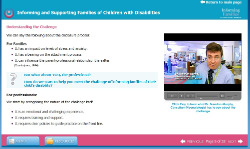 Screenshot from e-learning module